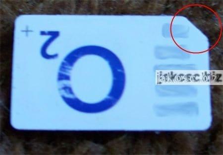 przykład poka yoke - ścięty narożnik karty sim