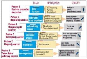 6-stopniowy model zarzązania procesami w administracji - organizacja pracy